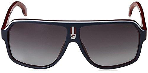 Carrera Unisex-Erwachsene 1001/S 9O 8Ru 62 Sonnenbrille, Blau (Bluette Red/White/Dark Grey)