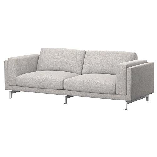 Soferia Funda de Repuesto para IKEA NOCKEBY sofá de 3 plazas, Tela Naturel Beige, Beige