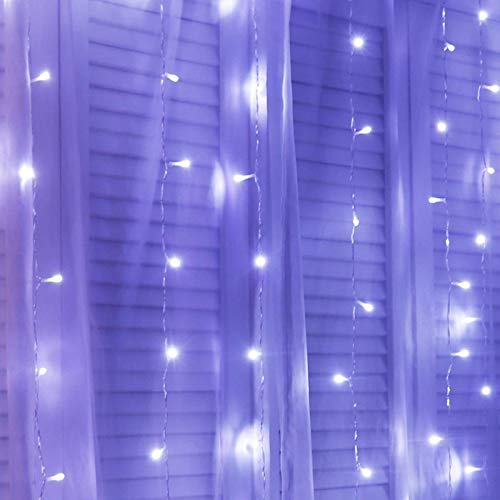 N-B 10M X 3M Icicle Garland LED Curtain String Lights Holiday Party Home Patio Wedding Fairy Lights For Room