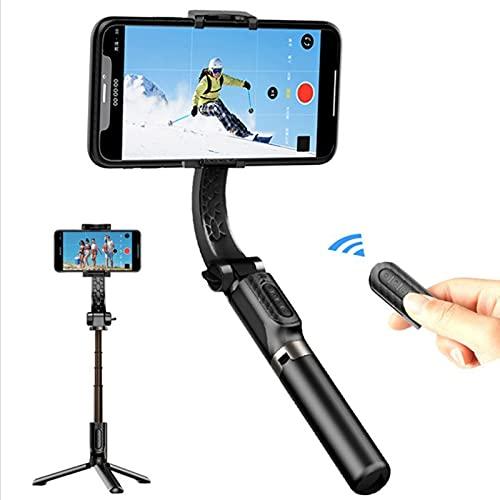 IYUNDUN Selfie Pole Treppiede, Stabilizzatore Cardanico Anti-Shake per Smartphone con Telecomando Bluetooth, per iPhone E Android TikTok, Registrazione Video, Blog, Streaming Live