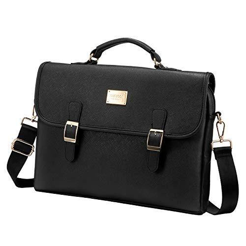 Women Leather Cute Laptop Computer Bag 15.6-Inch, Black Now $18.45