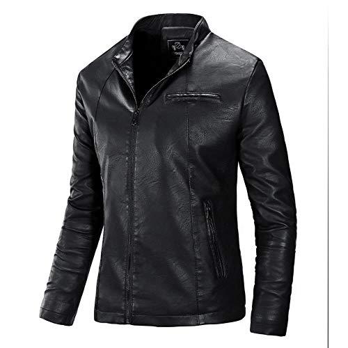 Preisvergleich Produktbild Shawujing 2019 Außenhandel Herbst Und Winter Explosion Modelle Neue Herren Revers Motorrad Leder Boutique Boutique Herren Lederjacke Jacke Flut,  Schwarz