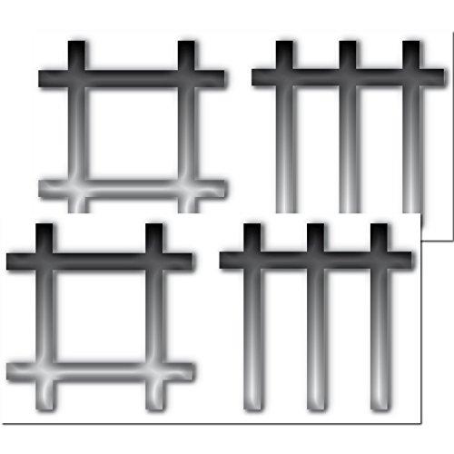 GreenIT 1 Set = 2 Stück 21cm DM Stäbchen Symbol Aufkleber car Bumper Sticker Auto Heck Deko Depeche Mode