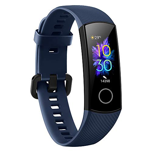 Honor Band 5 Activity Tracker 0,95  Schermo AMOLED a Colori 50M Waterproof Heart Rate Monitor Wristbands Bracelet per Diverse modalità Sportive (Blu)