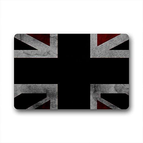 Doubee Paillasson Drapeau de l'Angleterre Premium Tapis Tapis Anti-Poussière Porte rectangulaire 60 cm x 40 cm, Tissu, E, 23.6\