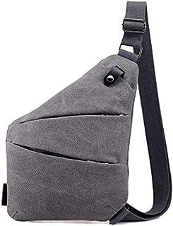 Men's canvas messenger bag multi-function wearable shoulder bag