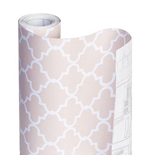 Smart Design Shelf Liner Adhesive - (18 Inch x 20 Feet) - Drawer Cabinet Paper - Kitchen [Chantilly Blush]