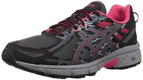 ASICS Women's Gel-Venture 6 Running Shoes, 7.5M, Black/Pixel Pink