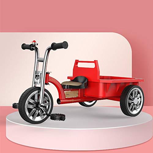 Triciclo para Niños con Cubo Trasero, Bicicleta De Equilibrio, Carro De Bebé, Bicicleta De Juguete para Bebé, Carga De Producto 90 Kg, Bicolor Opcional