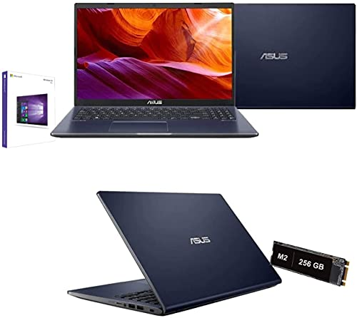 Notebook Asus Intel Core i3-1005G1 3.4 Ghz 10 Gen. 15,6  Hd 1920x1080,Ram 8Gb Ddr4,Ssd Nvme 256 Gb M2,Hdmi,Wifi,Bluetooth,Webcam,Windows 10 Pro,Antivirus,Black