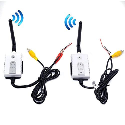 Auto Wayfeng WF® 2.4G Wireless-AV-Kabel Sender und Empfänger für Bus-Auto-Video-Monitor Truck Rückfahrkamera Rückfahrkamera 200m Reichweite
