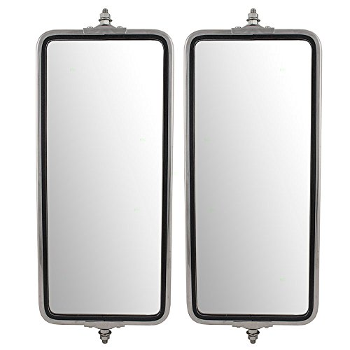 Universal West Coast Truck Stainless Steel Driver and Passenger Side Mirrors 7' x 16' Replacements