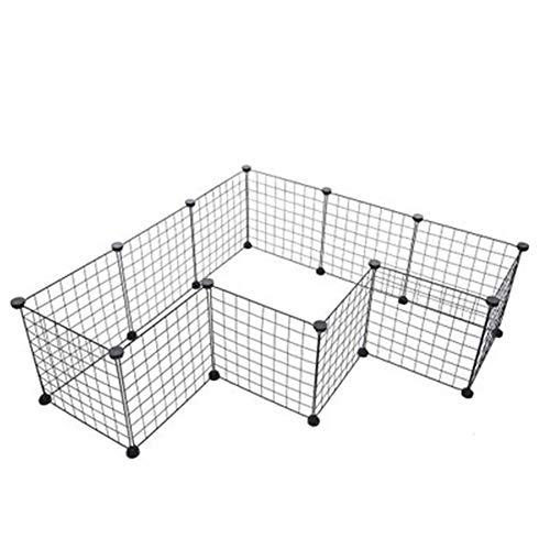 GYJ Hunde-Laufstall, tragbarer großer Kunststoff-Hofzaun, Kleintiere, modularer DIY-Gehäusekäfig, 12 Platten, einschließlich Gummihammer für den Innenbereich