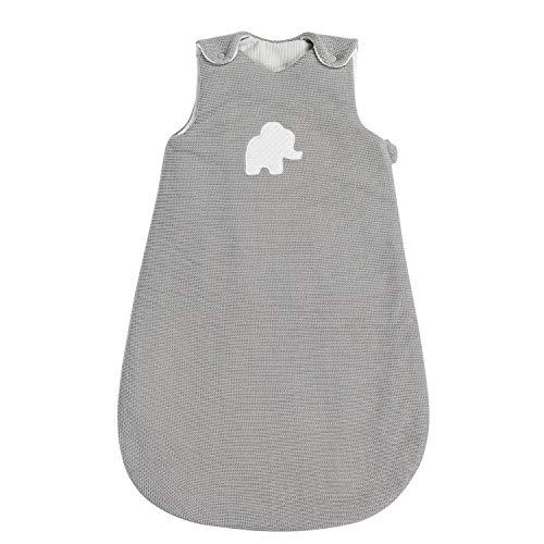 Nattou Ganzjahres-Schlafsack, Gestrickt, 70 cm, Tembo, Grau/Weiß