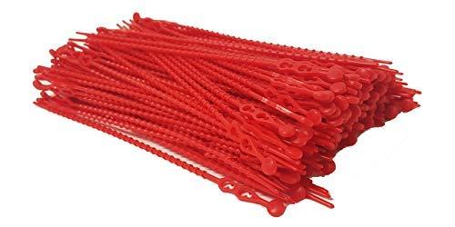 Blitzbinder - Kugelbinder - Mehrzweckbinder - Kabelbinder - 180mm Rot 200Stck. - inkl. Aufbewahrungsbox | Premiumqualität von PC24 Shop & Service