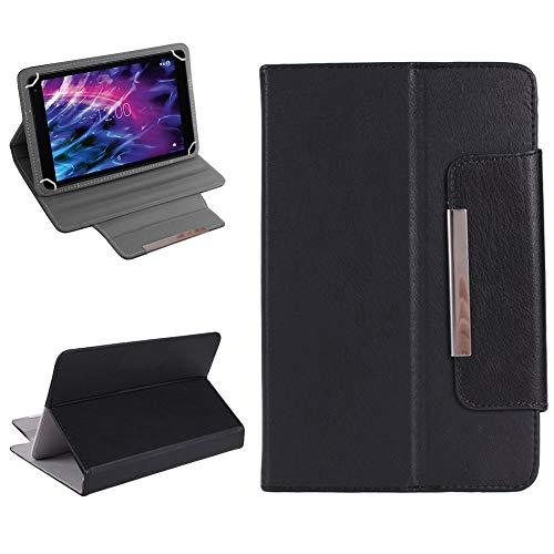 Medion Lifetab P10610 P10603 P10606 P10602 X10605 X10607 P9702 Robuste Tablet Schutzhülle Universal Tasche Kunstleder Hülle Standfunktion Cover Case NAmobile, Farben:Schwarz