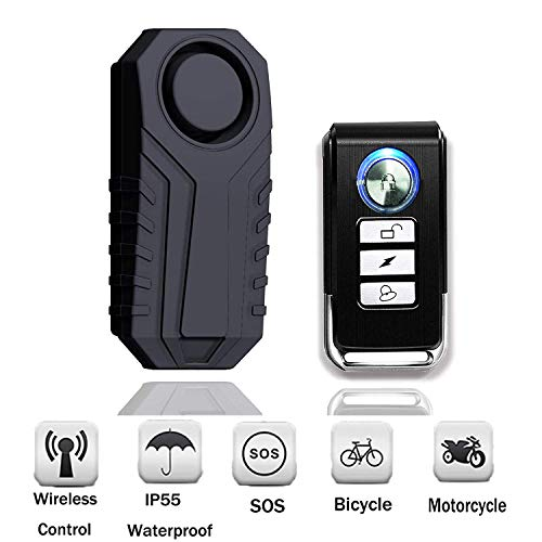 SMALIFE 1 Pack 113dB Wireless Anti-Theft Vibration Waterproof Security...