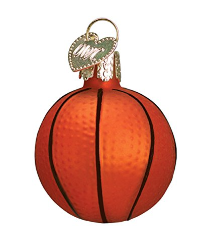 Small Basketball Blown Glass Christmas Ornament by Old World Christmas