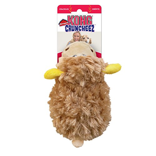 KONG - Cruncheez Barnyard Sheep - Suave Juguete de Peluche - para Perros Grandes