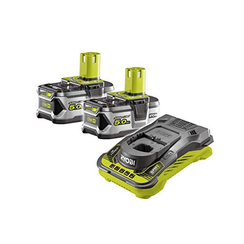 2 batteries RYOBI 18V Lithium-ion OnePlus 5.0 Ah - 1 chargeur rapide RC18150-250G