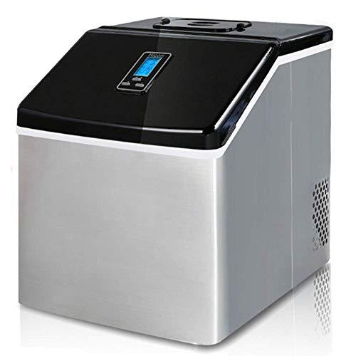 Máquina de hielo automática portátil, máquina de hielo en encimera de acero inoxidable, hace 55 libras de hielo por 24 horas de barras de fiesta para el hogar del dormitorio de los estudiantes wmpa