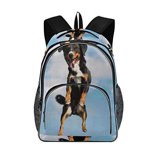 Irud Shcool Rucksack Appenzeller Sennenhund Hund, langlebige Tasche, Arbeitstasche, leicht, Laptoptasche, wasserabweisend, Geschenk für Männer und Frauen
