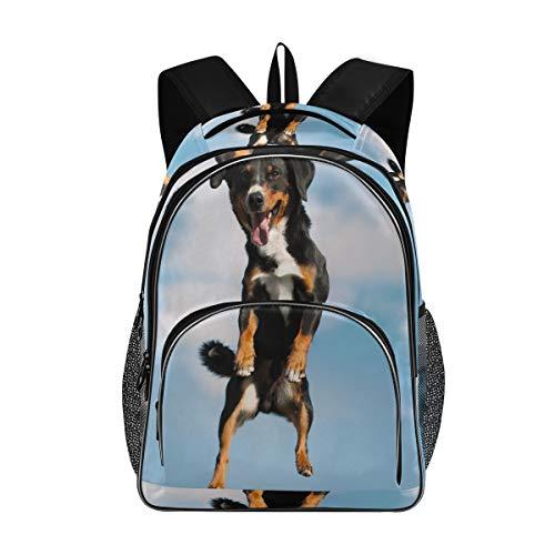 Bardic Shcool Rucksack Appenzeller Sennenhund Hund, langlebige Tasche, Arbeitstasche, leicht, Laptoptasche, wasserabweisend, Geschenk für Männer und Frauen