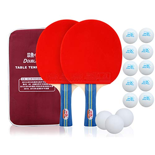 Best Deals! Ping Pong Paddle – Professional Table Tennis Paddle| 5-Layer Pure Wood Base Plate/Spon...