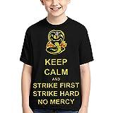 Cobra Kai Karate Kid T-Shirts 3D Print Boys and Girls Fashion T-Shirts Short Sleeve Anime Cartoon T Shirt Large