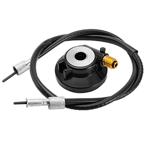 KIMISS Engranaje impulsor del velocímetro de 12 mm,cable de velocímetro negro PC + aleación de aluminio con cable de 39,4 pulgadas GY6 50cc 150cc piezas de scooter