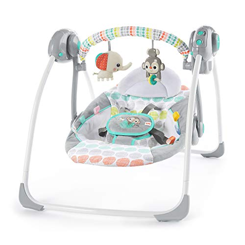 Best Price Bright Starts Whimsical Wild Portable Compact Automatic Swing with Melodies