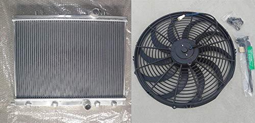 Para 206 2.0L GTI RC S16 Manual MT 1999-2008 00 01 Radiador de aluminio + ventilador