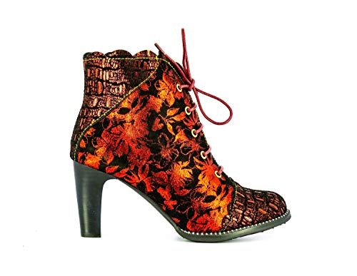 Laura Vita ALCBANEO2271Rouge - Zapatos para mujer (piel), color rojo, Negro (rojo), 37 EU
