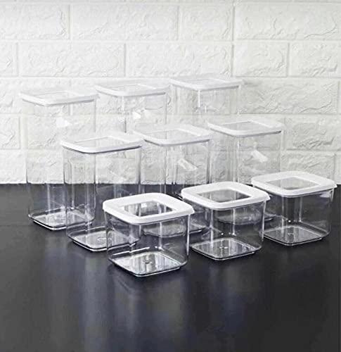 9 Caja de almacenamiento de alta calidad Juego de almacenamiento de alimentos Organizador Cocina y despensa-predeterminado