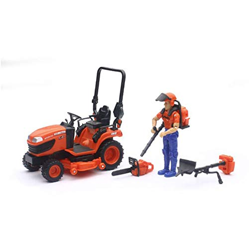 1/18 Kubota BX2670 Lawn Tractor with Figure & Accessories by New Ray SS-33453