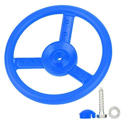 Ruining Volante, Robusto Volante Giratorio, portátil pequeño y Duradero para Juego de Columpios de Patio(Blue)