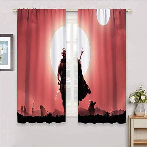 DILITECK Cortinas & Drapes Star Wars ciencia ficción bebé y-oda cortina de desgaste de 137 x 96 cm, Star Wars ciencia ficción Baby y-oda