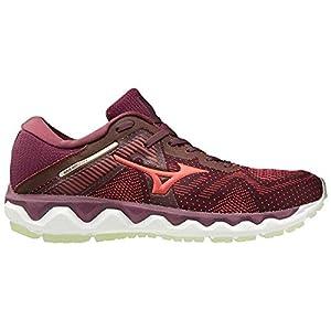 Mizuno Women's Horizon 4 Running Shoe, Mauve Wine-Cayenne, 9.5