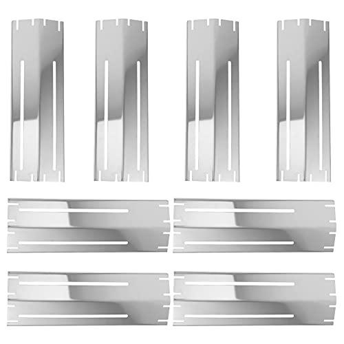 Lurrose 8 x Universal-Hitzeschild aus Edelstahl, robust, verstellbar, für Gasgrill