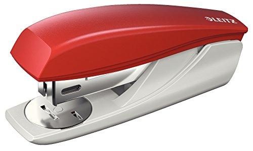 Leitz Kleines Büroheftgerät, Für 25 Blatt, Ergonomische Form, Inkl. Heftklammern, Rot, NeXXt-Serie, 55016025