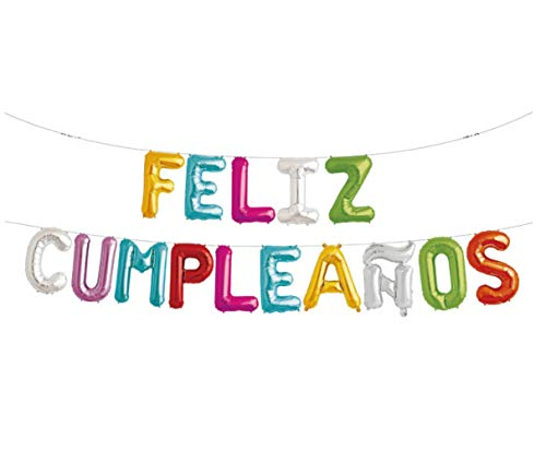 Partys Guirnalda Globos Feliz Cumpleaños Español