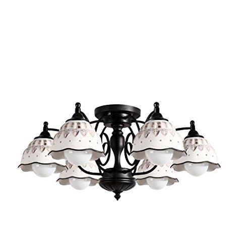 Chen Bohemia ceramica lampadario circolare ristorante illuminazione decorativa ceramica ferro E27Lampada porta, Six 40.0 wattsW