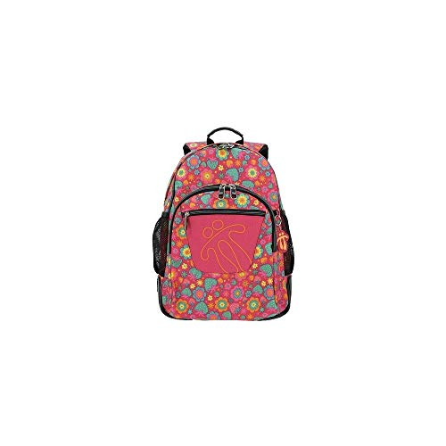 TOTTO Morral Crayoles Backpack - Pink Floral 1710N- 0II