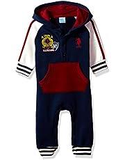 U.S. Polo Assn. Baby Boys' Fleece Romper