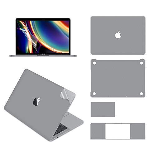 lention 13-Zoll-MacBook Pro 2020 Vollschutz Silber Hautversiegelung LCD-Schutzfolie 5-teiliges Set 3M-Technologie 4H-Härte (Grau)