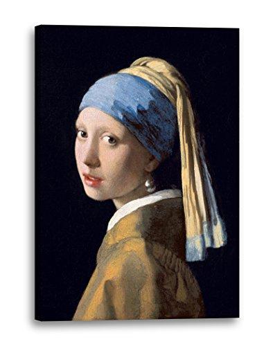 Printed Paintings Leinwand (60x80cm): Jan Vermeer - Mädchen mit dem Perlenohrring (1665)