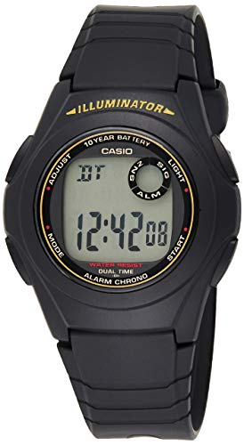 Casio Casual Sports Black Watch F-200W-9ADF