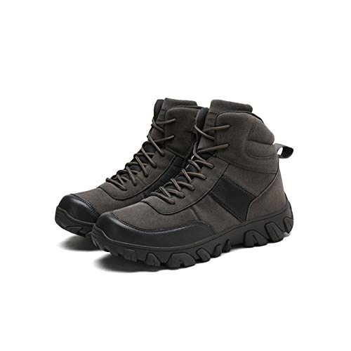 Winter Men's Work Shoes Tactical Boots,Military Combat Boot ,Men Army Hunting Trekking Camping Mountaineering Shoe,Grey-47