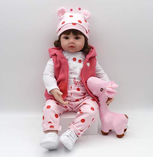 iCradle 24 Pulgadas 61cm Lifelike Reborn Baby Doll Niña...