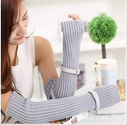 Gebreide wollen handschoenen herfst en winter warme handschoenen half vinger toetsenbord dames handschoenen